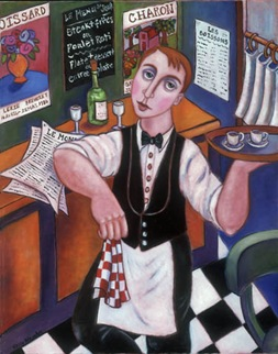French-Waiter-Kitchen-Art-Les-Boisons